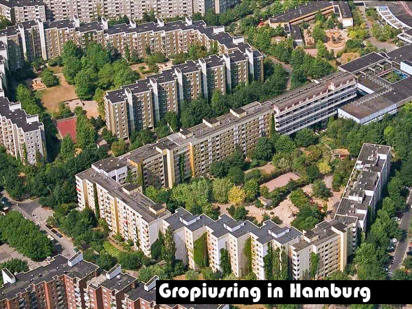 Gropiusring in Hamburg
